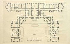 Floor Plan of Castle Howard, England   ARCHI/MAPS : Photo