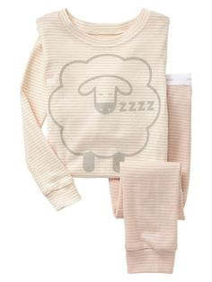 Organic stripe sheep sleep set Product Image