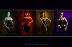 Apocalypse Four ©2015 Russ Turner Photography Corsets by Ties that Bynde Designs, Inc Body Paint/MU by Top Hat Studios — with Verneita DeVille, Kathleen Cupp and Jessica TiesthatBynde.
