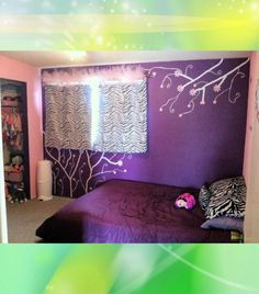 Brooklyn's bedroom, regal purple & cotton candy pink