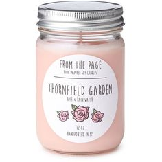 LITERARY CANDLES   scented candles   UncommonGoods ($16) ❤ liked on Polyvore featuring home, home decor, candles & candleholders, fillers, candles, pink fillers, extra, magazine, fragrance candles and pink scented candles