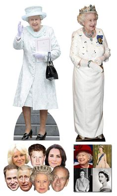 Queen Elizabeth II Birthday Commemorative Pack B - includes Lifesize Cutouts Masks and Photo Queen 90th Birthday, 90th Birthday Parties, Prince Phillip, Prince Charles, Camilla Parker Bowles, Lilac Dress, Royal Weddings, Queen Elizabeth Ii, Duchess Of Cambridge