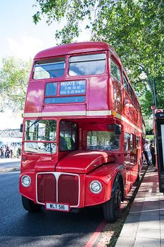 Red London Bus - much prefer the old ones