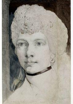"""""""Study of Mrs. Fuseli"""" by Henry Fuseli (1798)"""