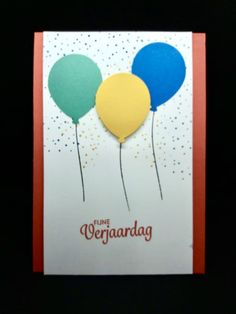 Dit is wederom een inzending van Ingrid Nellen. Zij gebruikte de kleurencombinatie van juli 2020 om deze vrolijke verjaardagskaart te maken.
