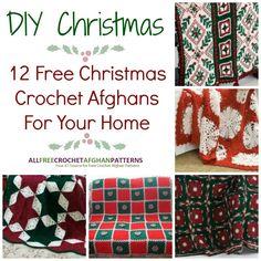 DIY Christmas: 12 Free Christmas Crochet Afghan Patterns For Your Home   AllFreeCrochetAfghanPatterns.com