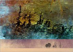 Pia Schneider atelier COLOUR-VISION - Wüsten Traum 4. #kunst #art #kunstdrucke #artprint #poster #malerei #painting #posterlounge #fotografie  #photography #grafikdesign #graphicdesign #illustration #collage #ateliercolourvision #piaschneider #wüste #desert #abstrakt #surreal #landschaft #landscape #phantasie #bäume #trees