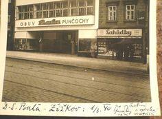 BAŤA ŽIŽKOV - Obchodní dům  1940 !!! orig. foto Origami, Broadway Shows, Store, Prague, Historia, Storage, Origami Art, Shop