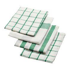 ELLY キッチンクロス, ホワイト, グリーン - IKEA
