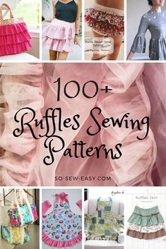 Do You Love Ruffles Sewing Patterns As Much As I Do? I love not only the look of ruffles (in the right place, of course) but I love sewing ruffles too. Sewing Ruffles, Love Sewing, Sewing Hacks, Sewing Tutorials, Sewing Tips, Sewing Ideas, Ruffle Diaper Covers, Leftover Fabric, Sewing Projects For Beginners