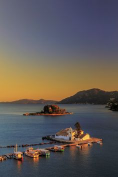 Vlaherna monastery, Corfu, Greece. For luxury hotels in Greece visit http://www.mediteranique.com/hotels-greece/