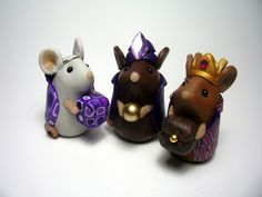Three Mouse Kings by QuernusCrafts, via Flickr (from The Mouse Nativity)