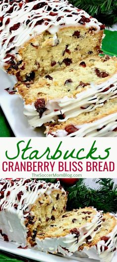 You're gonna this copycat Starbucks Cranberry Bliss Bread recipe — just like the famous Cranberry Bliss Bars, only better! You're gonna this copycat Starbucks Cranberry Bliss Bread recipe — just like the famous Cranberry Bliss Bars, only better! Copycat Recipes, Bread Recipes, Baking Recipes, Dessert Recipes, Healthy Recipes, Healthy Breads, Recipes Dinner, Delicious Recipes, Easy Recipes