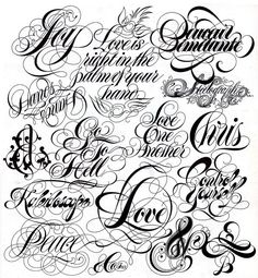 tattoo lettering: 21 тыс изображений найдено в Яндекс.Картинках