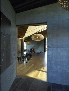 A beautiful home in NZ by Architect Stevens Lawson houses several David Trubridge lights!