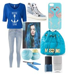 """Back to school scrap book #25"" by fashionistavv ❤ liked on Polyvore featuring Frame Denim, Giuseppe Zanotti, Kate Spade, Moschino, Eos, Nails Inc., NARS Cosmetics, Barry M and BackToSchool"