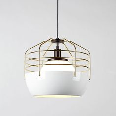 The Bluff City Light merges a traditional pendant shade and a wire-cage into an industrially inspired but refined pendant.
