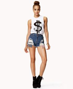 Dollar Sign Muscle Tee | FOREVER21 What are you wearing for the fourth? #Summer #EastSide #StreetStyle #OOTD
