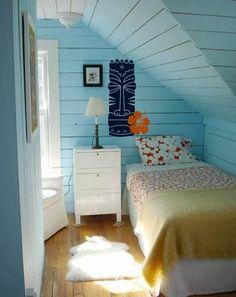 hibiscus tiki blue bedroom interior design