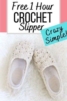Easy Crochet Slippers, Crochet Slipper Boots, Crochet Gloves, Crochet Crafts, Free Crochet, Quick Crochet, Free Easy Crochet Patterns, Easy Crochet Projects, Crochet Flip Flops