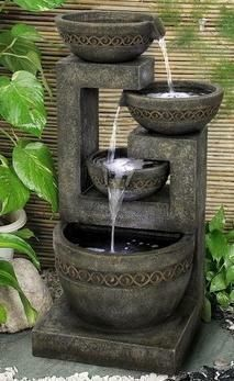 o, I decided to surprise you with yet another super collection of 20 Stunning Garden Water Fountains That Will Blow Your Mind. Here you may find water fountains for everybody& taste. Backyard Water Fountains, Indoor Fountain, Garden Fountains, Fountain Garden, Fountain Design, Fountain Ideas, Indoor Water Features, Water Features In The Garden, Jardin Decor