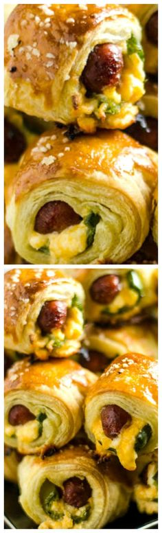 Jalapeno Popper Pigs in a Blanket ~ These spicy, cheesy appetizers are perfect for your next party or game day! #appetizers