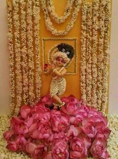 Decoration idea for Krishna janamastami