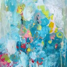 Wendy McWilliams - Love this piece! Abstract Flower Art, Blue Abstract Painting, Colorful Abstract Art, Contemporary Abstract Art, Abstract Paintings, Impressionist Art, Kandinsky, Diy Wall Art, Whimsical Art