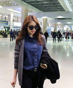 T-ara Jiyeon airport fashion