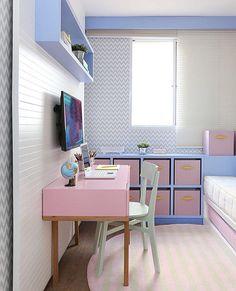 Kids Bedroom | Que tal esse quartinho em tons pastel fofo para um quartinho de menina que tal?  (Projeto Sesso Dalanezi | Foto Mariana Orsi)