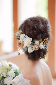 Super wedding makeup bridal brides 28 Ideas in 2020 Elegant Wedding Hair, Wedding Hair Flowers, Wedding Hair Pieces, Flowers In Hair, Boho Bridal Hair, Headpiece Wedding, Wedding Veils, Bridal Headpieces, Wedding Jewelry