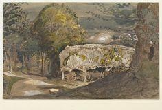 Landscape with a Barn - Samuel Palmer