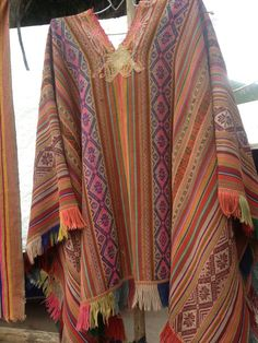 Vintage Peruvian Poncho with Butterfly Embroidery  by LivingAltar, $265.00    https://www.etsy.com/listing/121612644/vintage-peruvian-poncho-with-butterfly
