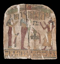 Wood and painted gesso funerary stele of Padikhonsu. Late Period. 25th dynasty. 760–660 B.C. | Museum of Fine Arts, Boston