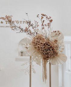 Floral centerpieces for your wedding. Natural dried flowers via Floral Wedding, Wedding Bouquets, Wedding Flowers, Dried Flower Arrangements, Dried Flowers, Flower Decorations, Wedding Decorations, Orchid Centerpieces, Centrepieces