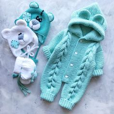 Best 9 Overalls free crochet pattern for baby new pattern images for 2019 page 48 of 57 – Artofit – DiyForYou – SkillOfKing. Baby Sweater Patterns, Baby Patterns, Crochet Patterns, Teddy Bear Clothes, Knitted Baby Clothes, Baby Boy Knitting, Knitting For Kids, Crochet Bear, Free Crochet