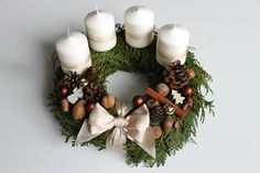 Christmas Crafts For Kids, Christmas And New Year, White Christmas, Christmas Wreaths, Xmas, Advent Calendar, Gardening, Decorations, Candles
