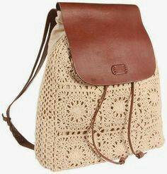 "New Cheap Bags. The location where building and construction meets style, beaded crochet is the act of using beads to decorate crocheted products. ""Crochet"" is derived fro Lace Backpack, Crochet Backpack, Bag Crochet, Crochet Handbags, Crochet Purses, Love Crochet, Crochet Granny, Crochet Ideas, Purse Patterns"