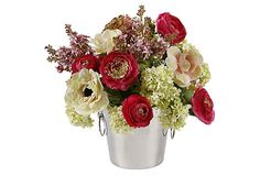 "13"" Garden Flowers in Vase on OneKingsLane.com"