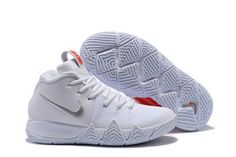 6c7ae1d1d6ab 2018 Cheap Nike Kyrie 4 Half Heart White Silver Red For Sale
