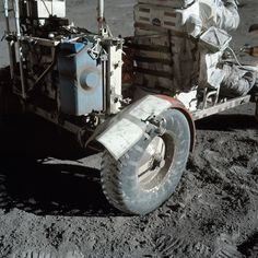 During the Apollo 17 mission in 1972 the rear fender of the lunar rover broke and lunar dust soon became a problem. This is how astronauts Cernan and Schmitt repaired the fender with clamps duct tape and lunar maps. [3000 x 3000]