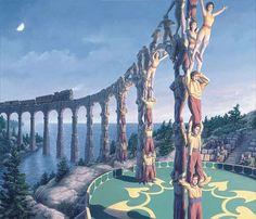 カナダ人アーティストのロバート·ゴンサルベス氏による幻想的なトリックアート