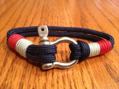 New England Patriots Nautical Bracelet with Whipped by Paraspirit