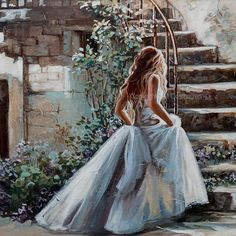 The Most Beautifull Prints of Maria's Original Artworks available in as Full Faced Stretched Canvasses, or on Paper. Romantic Artwork, Beautiful Artwork, Canvas Art Prints, Fine Art Prints, Mode Poster, Beautiful White Dresses, Christian Art, Portrait Art, Art Drawings