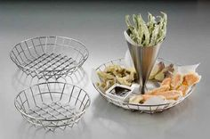 Stainless Steel Wire Baskets: Unique and functional, these wire baskets are without a doubt statement pieces.