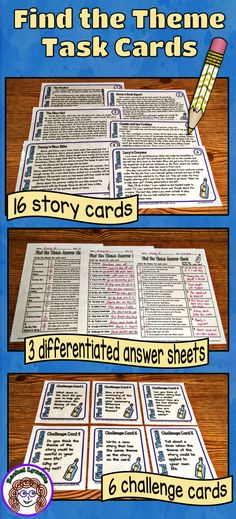 """Help your students to finally """"get"""" theme with these awesome task cards. The differentiated student answer sheet will help you to reach all learners and the challenge cards are great for extending the learning! Reading Lessons, Reading Strategies, Reading Activities, Reading Skills, Teaching Reading, Guided Reading, Reading Comprehension, Learning, Comprehension Strategies"""