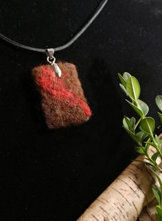 Items similar to Buffalo fiber and wool. Natural handmade brown and red needle felted art pendant on Etsy Wool Needle Felting, Needle Felted Animals, Felt Animals, Animal Fibres, Felt Birds, Felt Art, Fiber Art, Pendants, Pendant Necklace