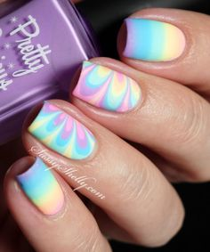 Rainbow Nails! Water