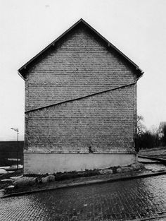 """poetryconcrete: """"Framework House, Slated Gable Side, Hauptstrasse by Bernd and Hilla Becher, in Birken, Germany. History Of Photography, Real Estate Photography, Artistic Photography, Fine Art Photography, Virginia Woolf, Bernd Und Hilla Becher, Ghost House, Studios, Getty Museum"""