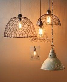 Chicken wire lighting